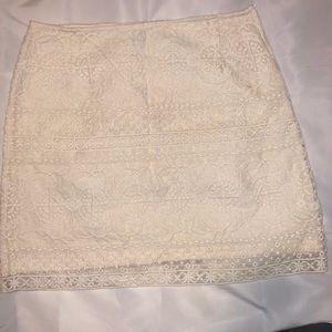 H&M Cream Skirt